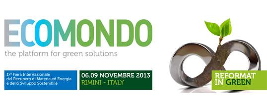 Appuntamento a Ecomondo 2013 dal 6 al 9 novembre a Rimini