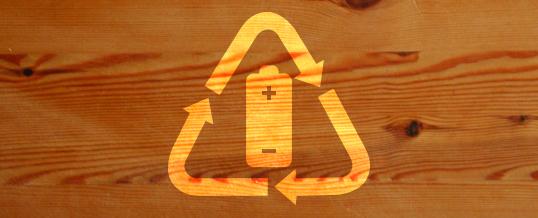 Dagli Stati Uniti la batteria ecologica fatta di legno