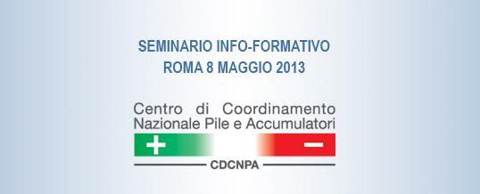 Seminario informativo gratuito sulla gestione dei Rifiuti di Pile e Accumulatori