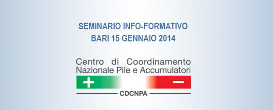 Seminari Info-Formativi del CDCNPA: il prossimo a Bari